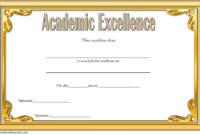 FREE Academic Excellence Award Certificate Template 2