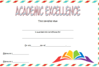 FREE Academic Excellence Award Certificate Template 3