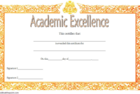 FREE Academic Excellence Award Certificate Template 4