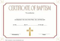 FREE Catholic Baptism Certificate Template Word 1