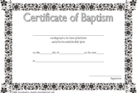 FREE Catholic Baptism Certificate Template Word 2