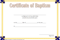 FREE Catholic Baptism Certificate Template Word 3