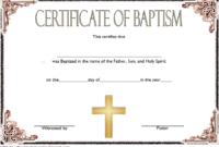FREE Catholic Baptism Certificate Template Word 4