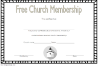 FREE Church Membership Certificate Template 1