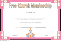 FREE Church Membership Certificate Template 2