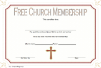 FREE Church Membership Certificate Template 3