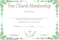FREE Church Membership Certificate Template 4