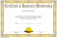 FREE Honorary Membership Certificate Template 1
