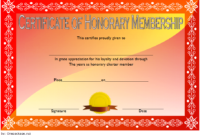 FREE Honorary Membership Certificate Template 2