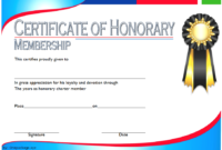 FREE Honorary Membership Certificate Template 3