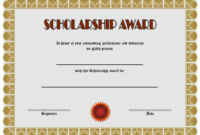 FREE Scholarship Award Certificate Template 2