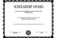 FREE Scholarship Award Certificate Template 3