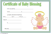Free Baby Blessing Certificate Printable 1