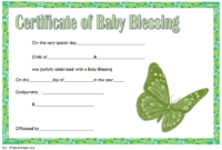 Free Baby Blessing Certificate Printable 2