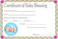 Free Baby Blessing Certificate Printable 3