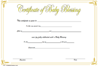 Free Baby Blessing Certificate Printable 5