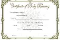 Free Baby Blessing Certificate Printable 6