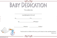 Free Baby Dedication Certificate Editable 1