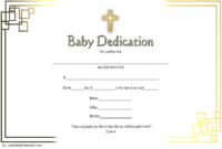 Free Baby Dedication Certificate Editable 2