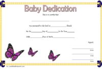Free Baby Dedication Certificate Editable 3