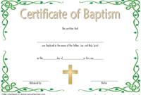 Free Editable Baptism Certificate Template 2