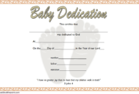 Free Printable Baby Dedication Certificate Template 1