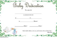 Free Printable Baby Dedication Certificate Template 2