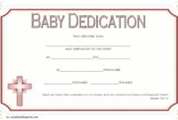 Free Printable Baby Dedication Certificate Template 3