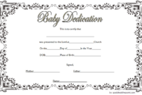 Free Printable Baby Dedication Certificate Template 4