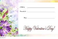 Free Printable Valentine Gift Certificate 2020 part 2