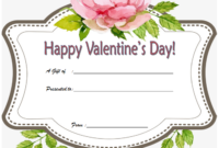 Free Printable Valentine Gift Certificate 2020 part 3