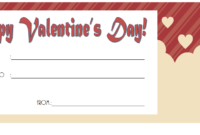Free Printable Valentine Gift Certificate 2020 part 4