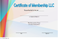 LLC Membership Certificate Template Word FREE 1
