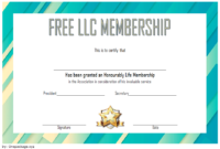 LLC Membership Certificate Template Word FREE 3