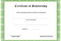Scholarship Certificate Template Printable 1