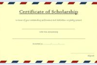 Scholarship Certificate Template Printable 4