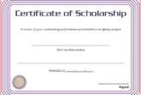 Scholarship Certificate Template Printable 5