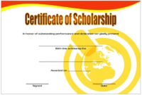 Scholarship Certificate Template Printable 6