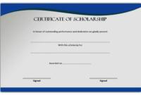 Scholarship Certificate Template Printable 7