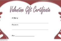 Valentine Gift Certificate Template Free Editable 1