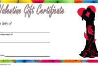 Valentine Gift Certificate Template Free Editable 3