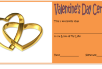 Valentine Gift Certificate Template Free Editable 4