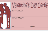 Valentines Day Gift Certificates for Him 2