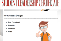 10+ Student Leadership Certificate Templates FREE Download by Two Package