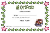 AR Certificate Template FREE (Star Design)