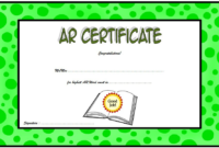 Accelerated Reader Word Count Certificate Template FREE