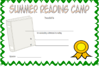 Adorable Summer Reading Certificate Template FREE
