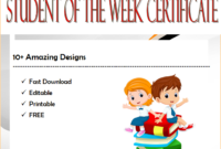 certificate for student of the week, star student of the week certificate, math student of the week certificate, student of the week certificate printable, student of the week certificate editable, student of the week certificate template