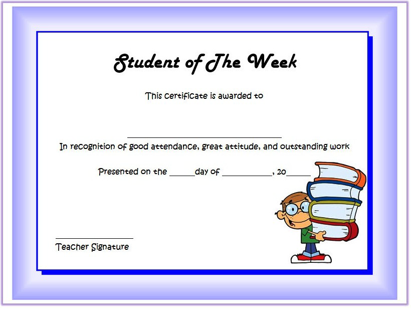 student of the week certificate printable, student of the week certificate editable, student of the week certificate template, student of the week certificate clipart, certificate for student of the week