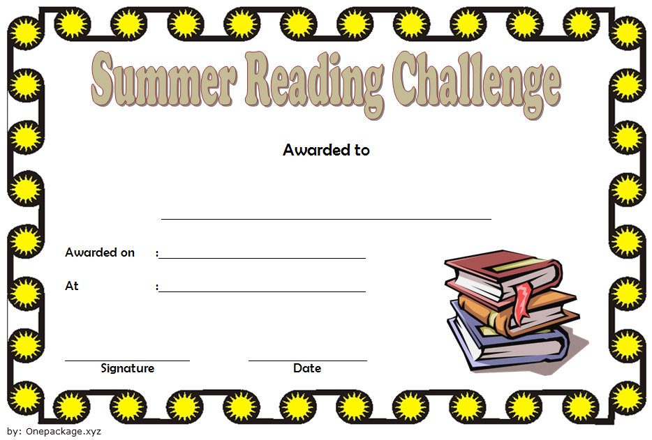 summer reading certificate template, summer reading challenge certificate, summer reading camp certificate, summer reading program certificates, editable reading certificate pdf
